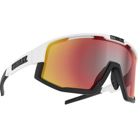 Bliz Fusion M12 Okulary, matt white/smoke with red multi